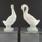 Pair Of Nao Duck Figurines 1976 1978 Made In Spain No Boxes