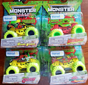 Monster Jam Zombie Invasion Special Edition-walmart Exclusive Set Of 4