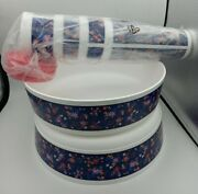 Tupperware 16 Oz Tumblers Cups With Seals Lids Set And Bowls Flowers 2 New