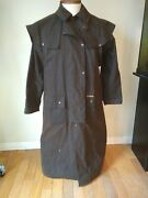 Morrisons Australia Western Duster Jacket Outback Oiled Canvas Men's Size Small