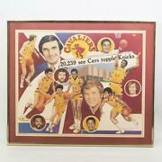 Vintage Cleveland Cavaliers 1975 Basketball Poster Gary Thomas Signed Artist