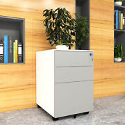 Yitahome 3-drawer Mobile File Cabinet Home/office Storage With Keys And Wheels