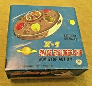 Antique X-7 Space Explorer Ship In Box Japan Tested Sci Fi Very Nice Condition