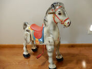 Antique Vintage 1950's Mobo Horse Metal Ride On Toy By D. Sebel And Co, England