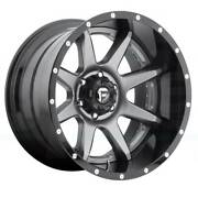 4-new 20 Fuel D238 Rampage Wheels 20x10 8x170 -19 Matte Gunmetal Black Lip Rims