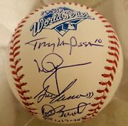 1989 Oakland Athletics World Series Signed Ball Mcgwire Stewart Canseco +more