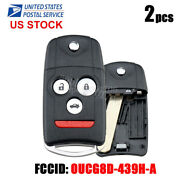 2 Replacement For Acura 2007-2008 Tl Remote Car Flip Key Fob Keyless Entry Id-46
