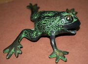 Antiques Toad Auspicious Lucky Frog Figurine For Business Brass Collectible Bm