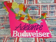New Bud Budweiser Beer Mexican Mexico Cartel In Motion 3-d Tx Ice Map Bar Sign
