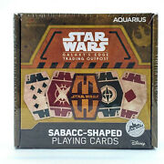 Sabacc Shaped Playing Cards Star Wars New Galaxy's Edge Exclusive Deck Of Disney
