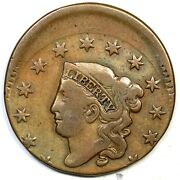1830 N-6 R-4 Med Letters Matron Or Coronet Head Large Cent Coin 1c