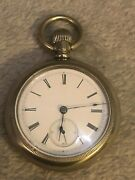1882 Illinois Open Face 5th Pinion Pocket Watch 18s 11j Phil Silverode Case