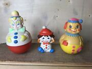 Vintage Toy Lot Of 3 The First Years And Sanitoy Rolly Polly Jingle 1970andrsquos