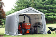 Shed-in-a-box 10and039 X 10and039 X 8and039 Carport Waterproof Shelter Portable Garage Canopy