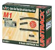 Kato N Scale New 2021 M1 Basic Oval Track Set With Power Pack 20-850-1