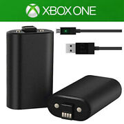 1/2 Packs For Xbox One Rechargeable Battery And Charging Cable Charge And Play Kit