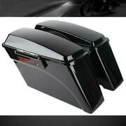 Vivid Black Hard Saddle Bags With Latches For Harley Davidson Touring 1994-2013