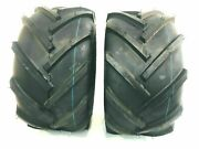 Two 23x10.50-12 Lawn Tractor Tires Lug Ag 23x10.5-12 Very Wide 23 1050 12