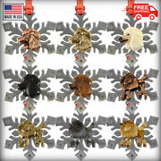 Pewter Standard Poodle Snowflake Christmas Tree Ornaments Made In The Usa