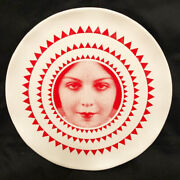 Decorative Plate With Movie Star Face.