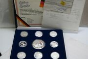 Germany Soccer 1988 Medals 8x23gr + Medallion 132 Gr. In Box B28 Arm