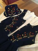 Authentic Adult Blue Norwegian SolØr Solor Odal Bunad And Hat From Norway S/m