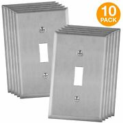 Toggle Light Switch Stainless Steel Wall Plate Corrosive Resistant 10 Pack