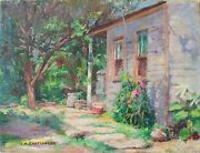 C. K. Chatterton American 1880-1973 52x42cms Oil On Canvas Signed Ca.1953