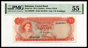 Bahamas Unc Note 5 Dollars 1974 P-37a Pmg 55 About Uncirculated Sing. Donaldson