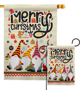 Christmas Gnome Garden Flag Winter Small Decorative Gift Yard House Banner