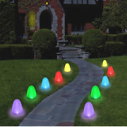 Set Of 10 - 8 Tall Sugar Coated Led Gumdrop Christmas Pathway Lights - Electric