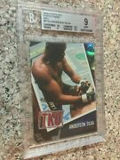 2009 Topps Ufc Round 2 Photo Finish Ruby - Anderson Silva 5/8 - Bgs 9