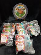 Mcdonalds Happy Meal Hercules 1996 Toys Lot Of 10 With Plastic Collectors Plate