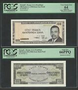 Burundi Face And Back 100 Francs 1-1-1968 P23 Essay Proof Uncirculated