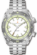 New Prometheus Eagle Ray 5d1 White Dial No Date Watch Dealer And Warranty