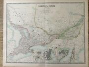 1894 Central Canada Ontario Quebec Large Antique Map By A.k. Johnston