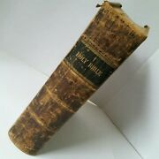 Antique Holy Bible New Old Testament Leather Bound Kimber And Sharpless 1823