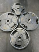 Weight Plates Set 157.5 Kg + 7ft Olympic Bar Jordan Weight Plates Commercial