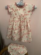 New Mands Pretty Vintage Style Floral Childrenandrsquos Cotton Dress/knickers 12-18 Month