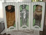 Storybook Tiny Tots Wizard Of Oz Tin Man, Scarecrow, Lion New In Box Stands Coa