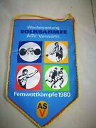 Nva Volksarmee Ddr East Germany Army Banner Pennant Wimpel 1980