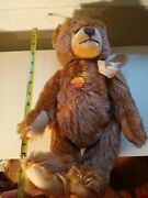 Steiff Animal 011184 Mohair Teddy Bear With Music Factory Made In Germany