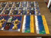 England Rugby World Cup 2003 Every Programme And An Unused Ticket To Every Match