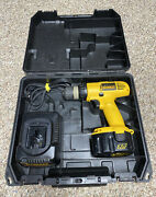 Dewalt Dw928 Cordless 3/8 Drill Carrying Case Battery And Charger / Testedandworks