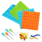 Silicone Bear Molds Gummy 1/2/4pc Candy Chocolate Ice Making Supplies Mold Trays