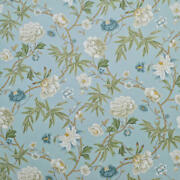 Clarence House Vieux Canton French Blue Floral Cotton Print 10 Yards