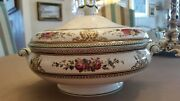 Wedgwood Columbia Multi Color Covered Casserole Serving Dish Black Mark Perfect