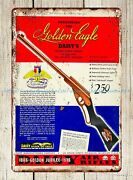 Art Posters 1936 Ad Daisy Air Rifle Toy Golden Eagle 1886 Jubilee Metal Tin Sign