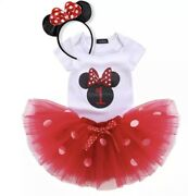 Minnie Mouse Red Tutu Dress For 1 Year Old Birthday Party Costume