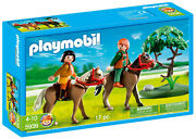 Playmobil 5936 Pony Farm Horses And Riders Horseback Brown Country New Sealed